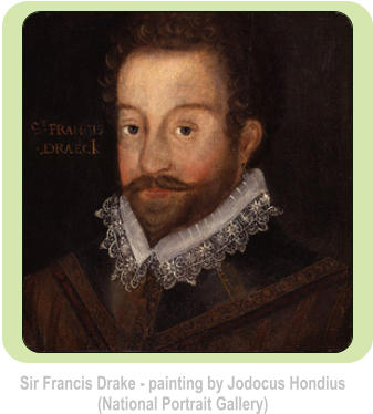 Sir Francis Drake - painting by Jodocus Hondius (National Portrait Gallery)