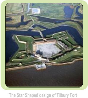 The Star Shaped design of Tilbury Fort